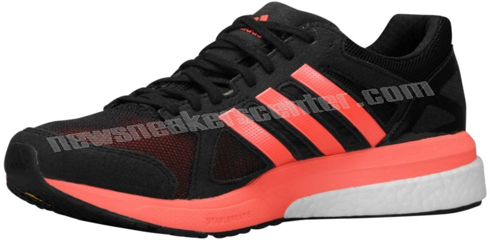 Adidas adiZero Tempo Boost Men's Black/Solar Red With Quick Expedition  - Adidas adiZero Tempo Boost Men's Black/Solar Red With Quick Expedition-01-1
