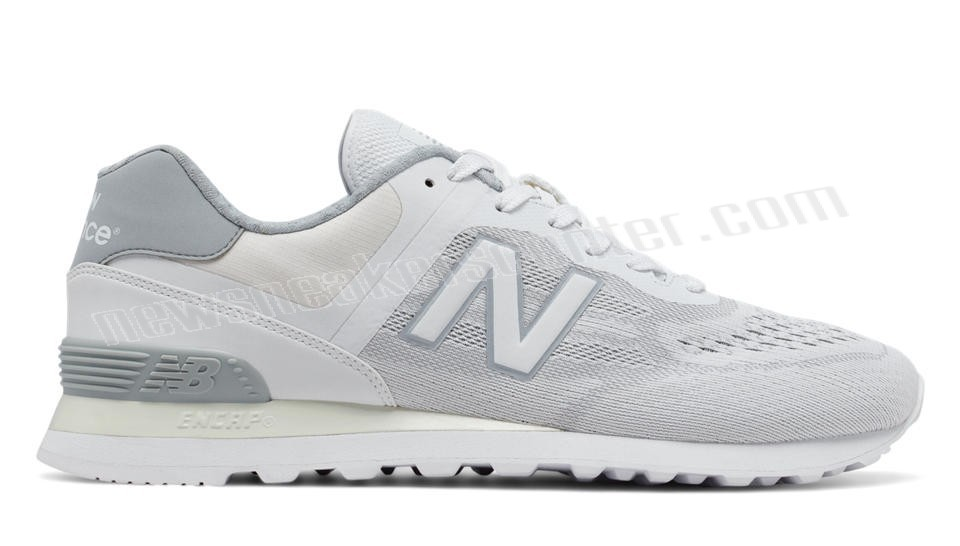 New Balance Mens Re-Engineered White with Silver Mink Of Nice Model  - New Balance Mens Re-Engineered White with Silver Mink Of Nice Model-01-0