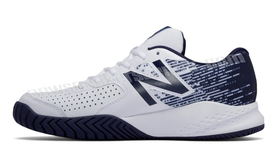 New Balance Mens6v3 White with Navy With The Best Price  - New Balance Mens6v3 White with Navy With The Best Price-01-1