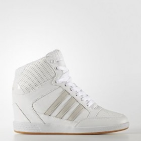 ADIDAS WHITE FTW SUPER WEDGE WOMEN'S NEO SHOES With Quick Delivery