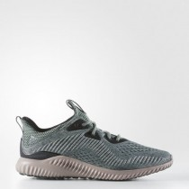 Adidas Alphabounce EM M Engineered Mesh Green Grey Men Running Shoes At Lower Price-20